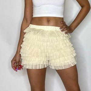 LF Tulle Ruffle Shorts